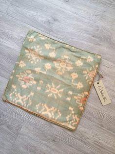 CLEOBELLA NWT Cute Handmade Designer Small Ikat Pillowcase Cover 16x16 #Handmade