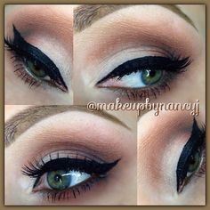 .@makeupbynancyj | Used Makeup Forever shadows to create this look.. Will list the colors in the...