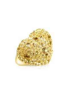 Gis�le St.Moritz Fantasmania - Gold Crystal Big Heart Ring