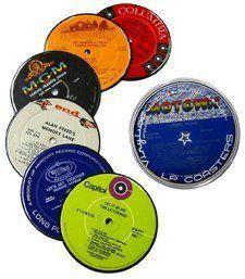 Vintage Vinyl LP Record Coasters - Set of 6 by Vinylux, http://www.amazon.com/dp/B0009XSVTU/ref=cm_sw_r_pi_dp_99K3pb1XWXJQY