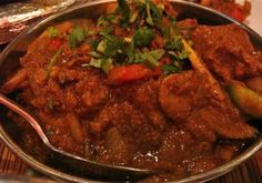 FAV Lamb Bhuna: Bhuna type of Indian curry where whole spices are 'dry roasted', or 'toasted' beforehand in order to release their flavours & give the curry it's intense flavour. curry-pot.com