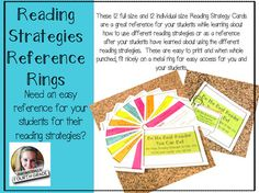 Need an easy reference for your students for their reading strategies? This product has been a great resource in my classroom and I hope it is in yours as well! These 12 full size and 12 individual size Reading Strategy Cards are a great reference for