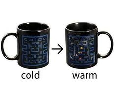Cool mug. Changes by heat