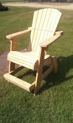 Tall Adirondack Chair...made By My 22 Yr Old Grandson In NC!