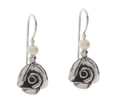 Or Paz Sterling Cultured Pearl Rose Dangle Earrings - QVC.com