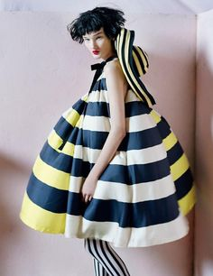 I love this bumble bee dress. Another interesting Tim Walker couture photo.