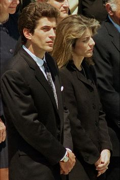John F. Kennedy, Jr. & sister Caroline Kennedy-Schlossberg at the funeral of their mother, Jacqueline Bouvier-Kennedy-Onassis.
