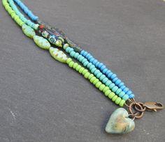 Multi strand seed bead bracelet stacking bracelet by BeadyDaze
