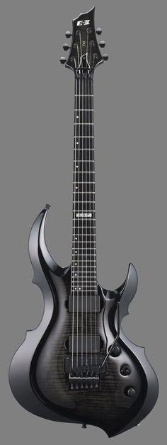 ESP E-II FRX FM Forest Guitar See-Thru Black Burst