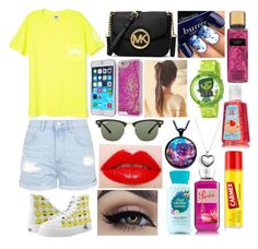 """""""Untitled #1092"""" by shinetomlinson10 ❤ liked on Polyvore featuring Topshop, MICHAEL Michael Kors, Ray-Ban, Disney, Carmex, Pandora, women's clothing, women's fashion, women and female"""