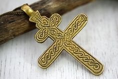 Cross Pendant Orthodox greek Cross Jewelry Gift for women / men