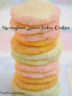 Springtime Lemon Icebox Cookies - Pink Piccadilly Pastries