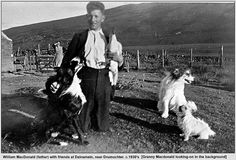 William MacDonald (My father) at Dalnamein residence, near Drumochter. 1930's (way before my time).