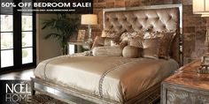The May Big Bedroom Sale. Fabulous savings on Luxurious Furniture. Mix and match any three bedroom items and receive 50% OFF the retail price!