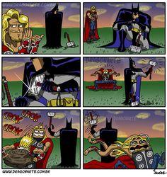 When Batman Trolls Thor [Comic]