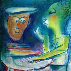 Julio Pomar couple harmony happiness by MarieArtCollection on Etsy