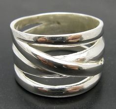 R001028 Stylish Plain STERLING SILVER Ring Solid by EmpressSilver, $23.00