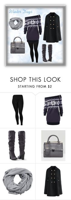 """""""Winter Days"""" by iconicwhispersllc on Polyvore featuring Sofra, Venus, Dune, MANGO, Chicwish, sweaterweather, sweaterdress, winterstyle, capecoat and iconicwhispers"""