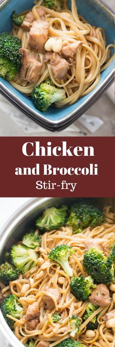 This Chicken and broccoli stir fry  is a really winner of a dinner! It's quick and simple and so good!