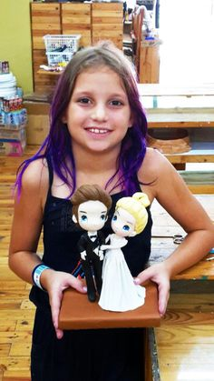 Every girl dreams of her own fairytale wedding! Even for our 9 year old student from France who crafted her own Basic Cutie wedding couple.