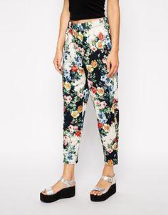 ASOS Peg Pants in Floral Print