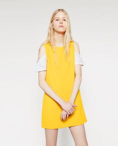 Image 2 of DRESS WITH CONTRAST SLEEVES from Zara