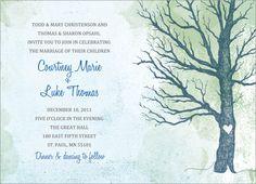 Winter Tree Wedding Invitation Suite
