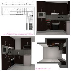 for extension of kitchen - addition of cupboards Perspective Drawing, Conceptual Design, Cupboards, Floor Plans, Kitchen, Armoires, Closets, Cooking, Fitted Wardrobes