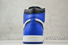 568cdb25a7351f Nike Air Jordan 1 Game Royal Pure Original White Blue Small Lightning  555088-403 Size New Release