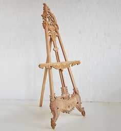 Heavily Carved French Easel / French Easel / Dutch Connection
