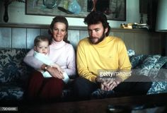 1969, American actor Clint Eastwood is pictured with his wife Maggie and baby son Kyle