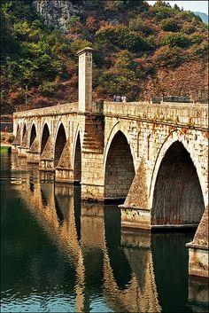 ˚The Mehmed Paša Sokolović #bridge,,,city Visegrad,,,,,Bosnia and Herzegovina.....