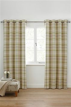Buy Red Woven Check Eyelet Curtains From The Next UK Online Shop
