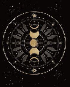 Logo Inspiration, Handy Iphone, Moon Symbols, Capricorn Moon, Sacred Geometry Tattoo, Moon Drawing, Moon Illustration, Illustrations Posters, Triangle Tattoos