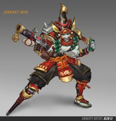 Fantasy Character Design, Character Concept, Character Art, Concept Art, Junkrat Skins, Overwatch Skin Concepts, Junkrat And Roadhog, Overwatch 2, Hero Costumes