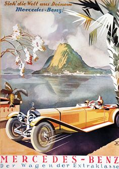 Art deco car designo pinterest poster cars and car for Mercedes benz poster