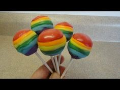 Rainbow cake pops can be watched on Youtube by Yoyomax12