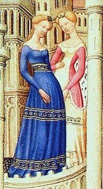 El traje medieval femenino en el S. XIV