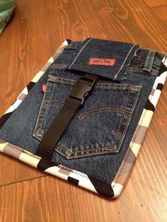 Hülle fürs iPad aus recycelter Jeans