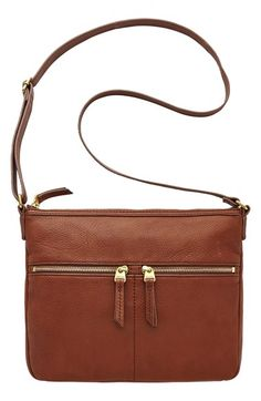 Fossil 'Erin' Crossbody Bag | Brown