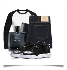 """Black n White"" by princessjay003 on Polyvore featuring Chanel, men's fashion and menswear"