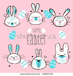 Happy Easter day - holiday vector illustration