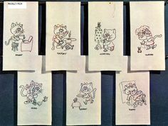 9524 Kittens for Days of the Week Towels Hand by BlondiesSpot