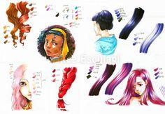 Copic Italia: Tutorial: come colorare i capelli in stile manga -...
