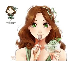 mint & chocolate ice cream by meago