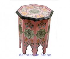 Morrocan table painted with Arabic design