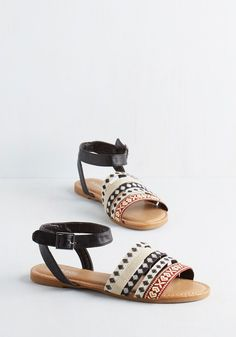 Ain't Seen Nothin' Fete Sandal. If youre the type of shoe-lover who wants to throw a party for every pair shes ever loved, just wait til you get a load of these boho-inspired sandals! #multi #modcloth