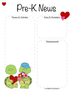 Monthly Newsletter Templates Free School Daycare  Preschool