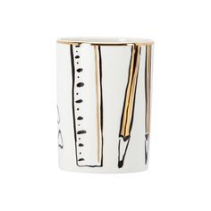 This kate spade new york Daisy Place Pencil Cup will look fantastic on your work desk or counter. Crafted in white porcelain if features playful black and white illustrations with chic touches of gold. Desktop Accessories, Office Accessories, Decorative Accessories, Pencil Cup Holder, Kate Spade, White Pencil, Desktop Organization, Black And White Illustration, Touch Of Gold