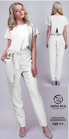 Biel - synonim elegancji i stylu a poza tym hit wybiegów. Biały kombinezon to świetna alternatywa dla sukienki a do tego lata nieodłączny towarzysz każdej modnej dziewczyny.  http://www.grandesaldi.pl/elegancki-kombinezon